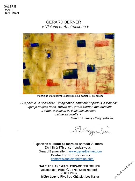 Gerard Berner expose ses toiles