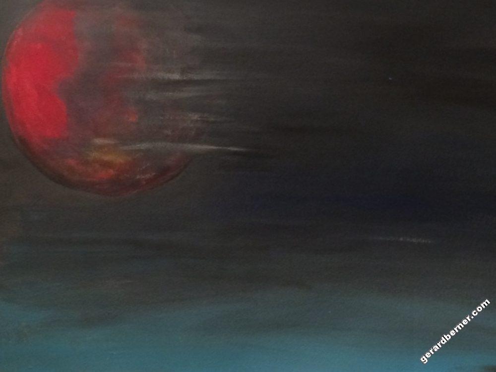 Planète rouge - Tableau par Gerard Berner
