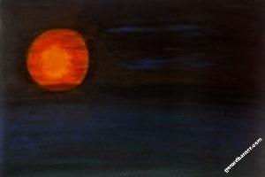 vision3-soleil-rouge - Tableau par Gerard Berner