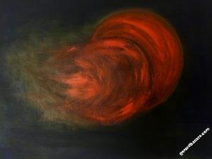 vision35-tornade-rouge - Tableau par Gerard Berner